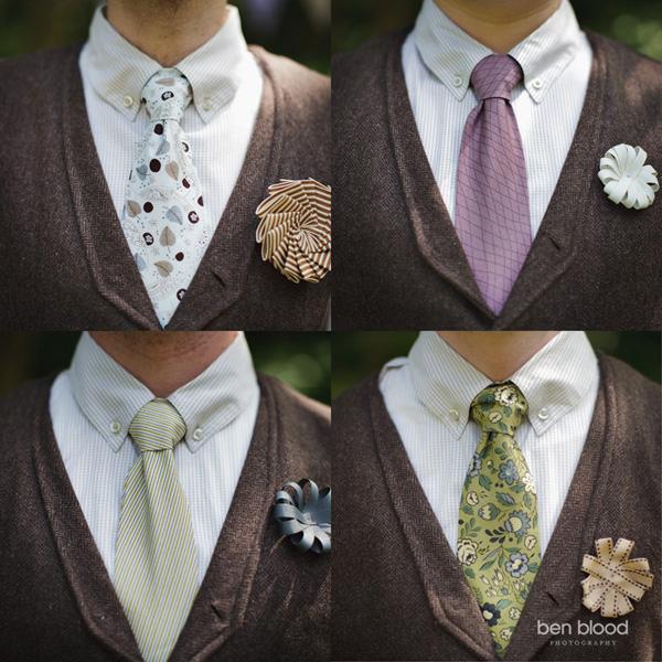 Ribbon-wedding-boutonnieres