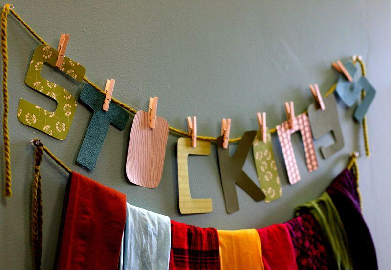 DIY-colored-stocking-display