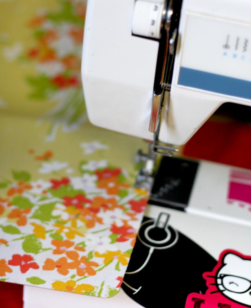 Machine stitching