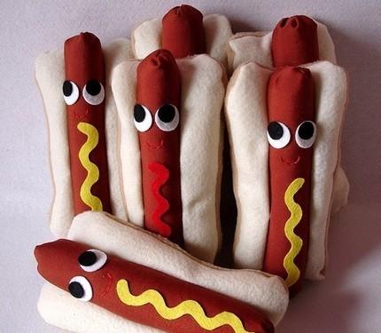 Plush hotdog