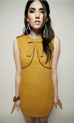 Mustard bow dress