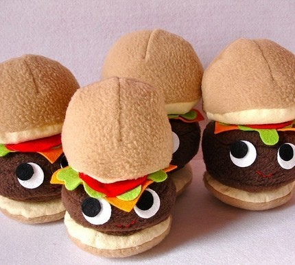 Plush hamburger
