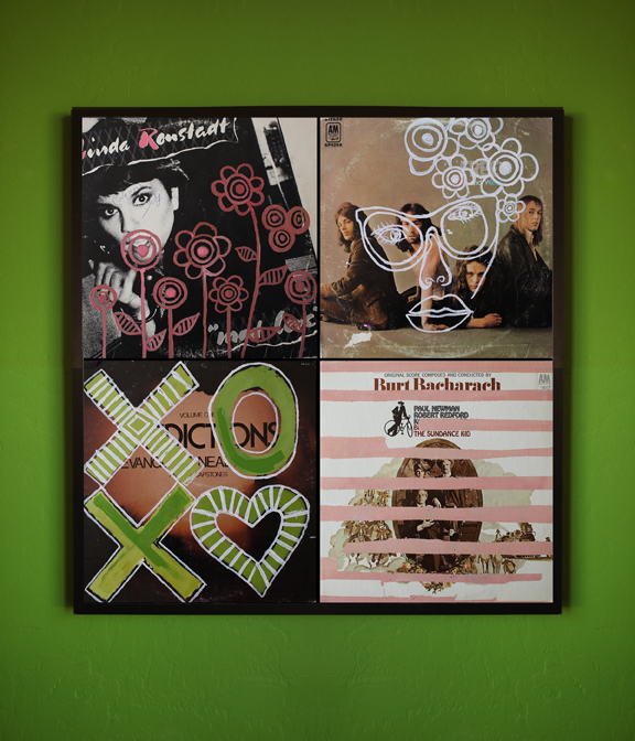 Enjoyable Poster Framing Ideas. 00 DIY  Vintage Record Cover Wall Art A Beautiful Mess