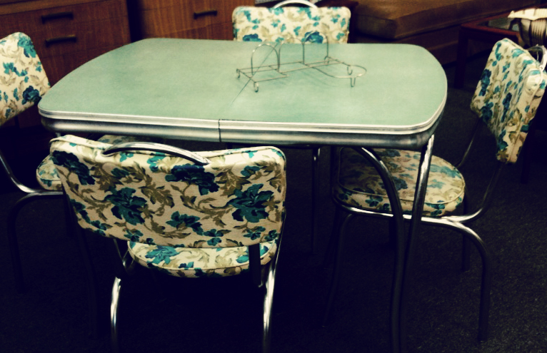 I Found This Table For My Studio This Week (i Moved My Yellow Formica Table  To My New Kitchen). I Love This New Table So Much. The Floral Seats Stole  My ...