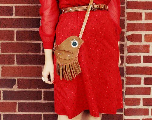 sewing for women: birdie fringe purse tutorial