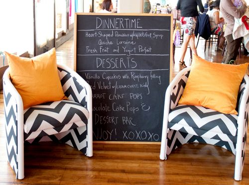 Menu chevron chairs