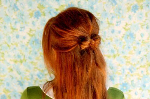 Hair bow half