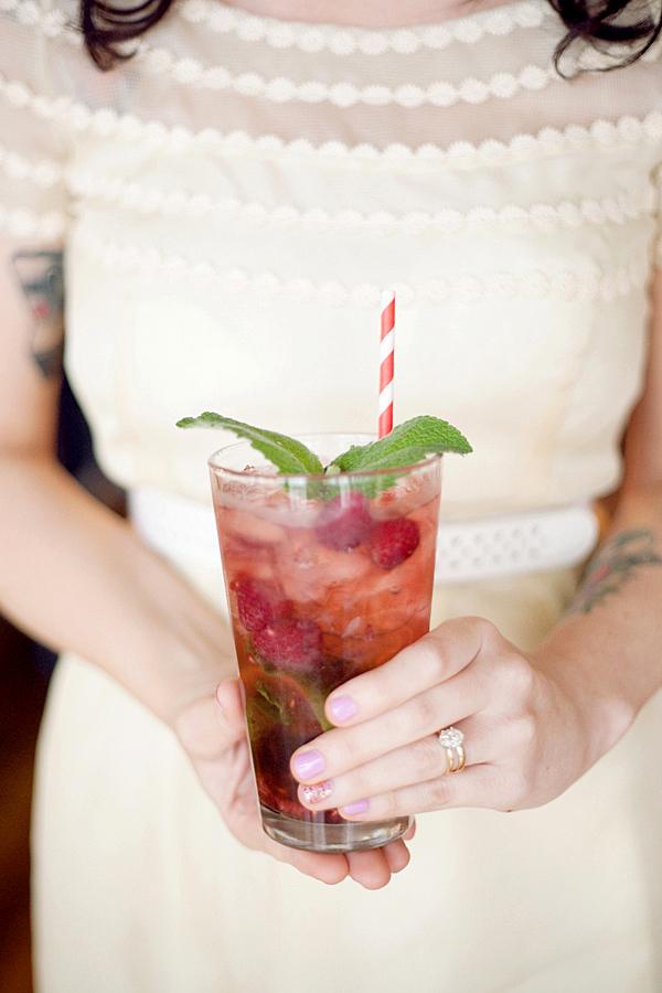 Elsie raspberry mojito
