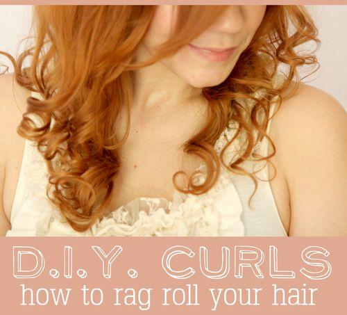 Rag rolled hair