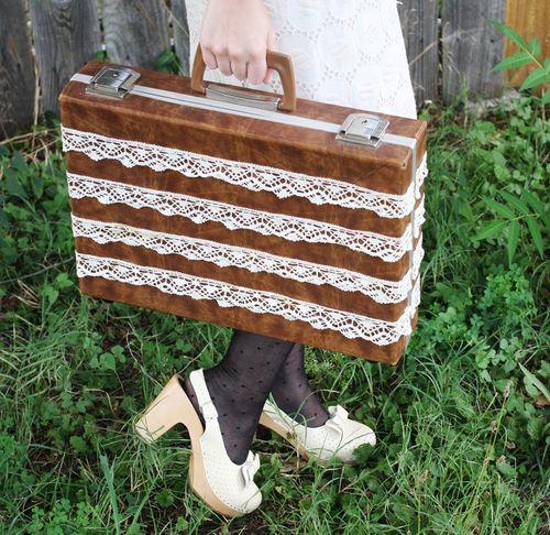 Lace briefcase