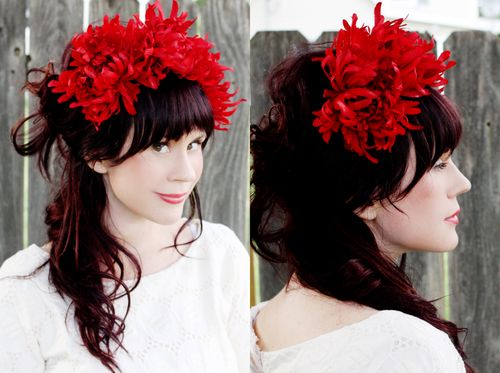 Flower headband DIY