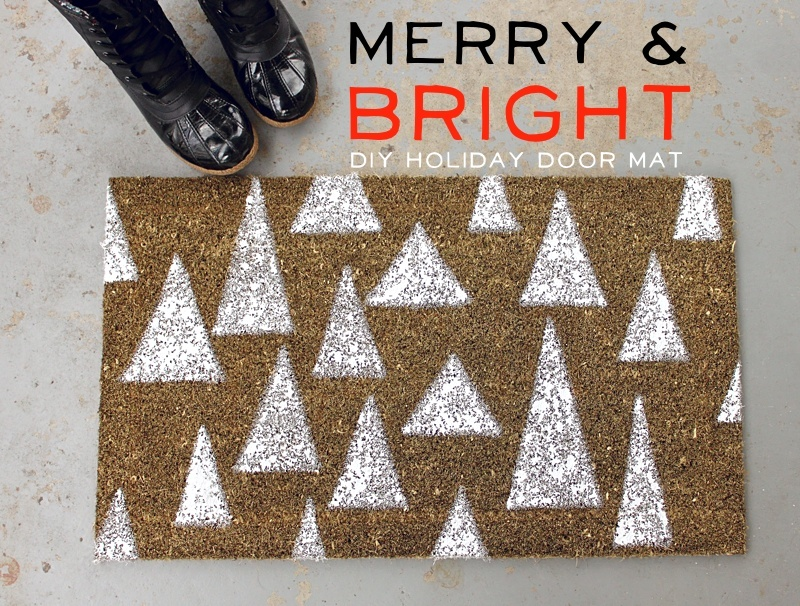 Holiday door mat d i y a beautiful mess for Diy welcome home decorations