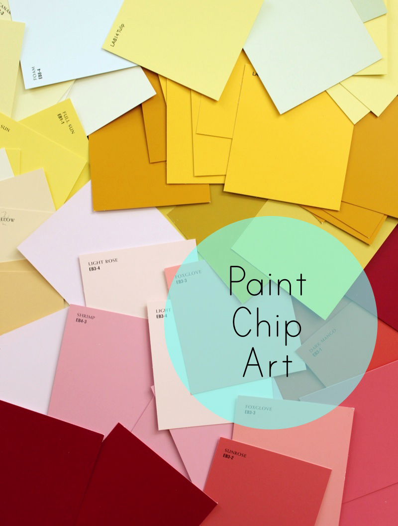 DIY : MODERN WALL ART WITH PAINT SWATCHES ~ EverythingG