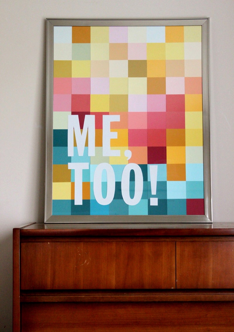 Wall Art Using Paint Chips