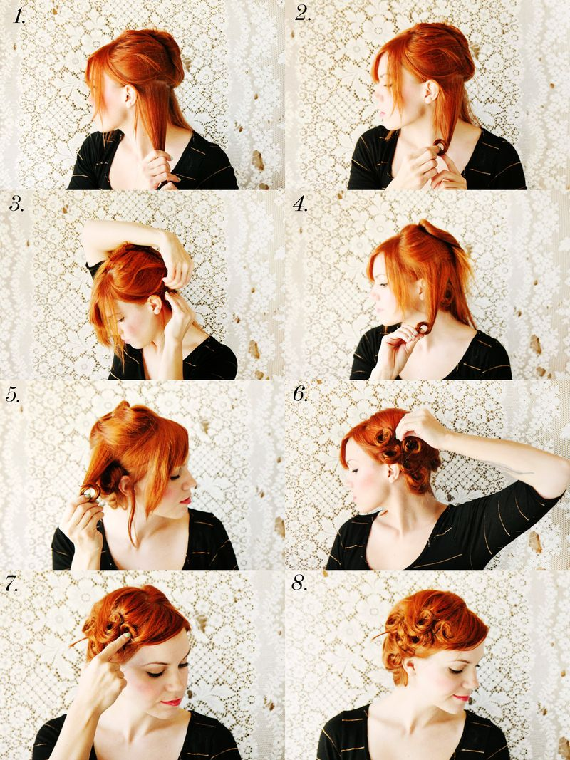 how to curl your hair 50s style how to style pin curls a beautiful mess 3135 | 6a00d8358081ff69e20163027b2139970d 800wi