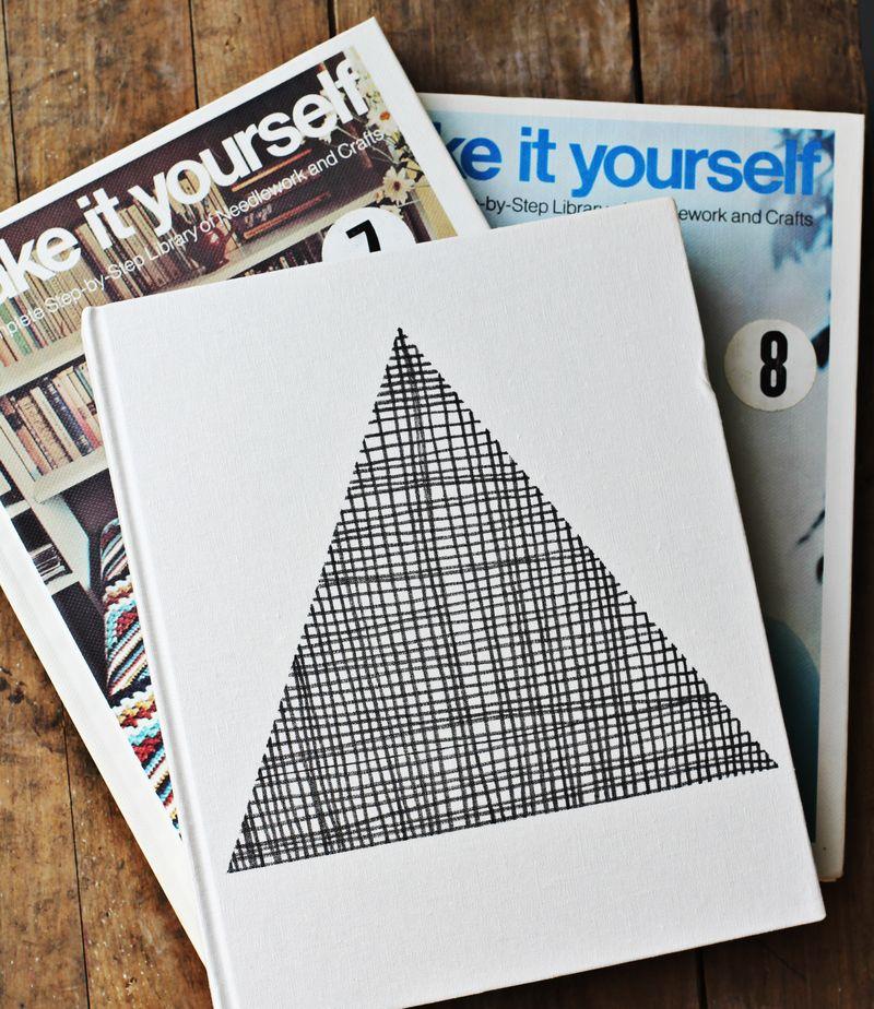 Fabric pen journal