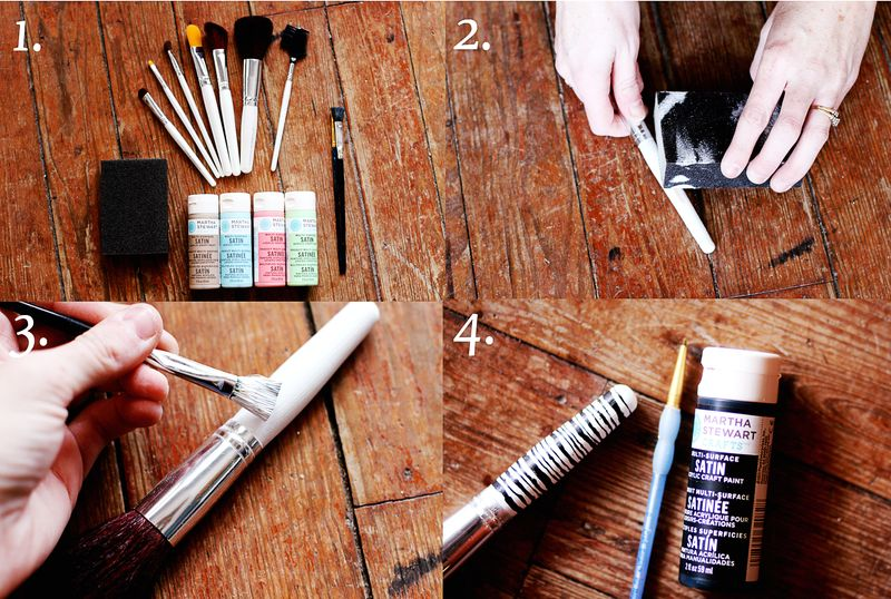 Makeup brush DIY