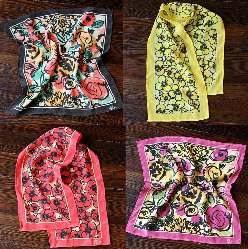 Red velvet scarves