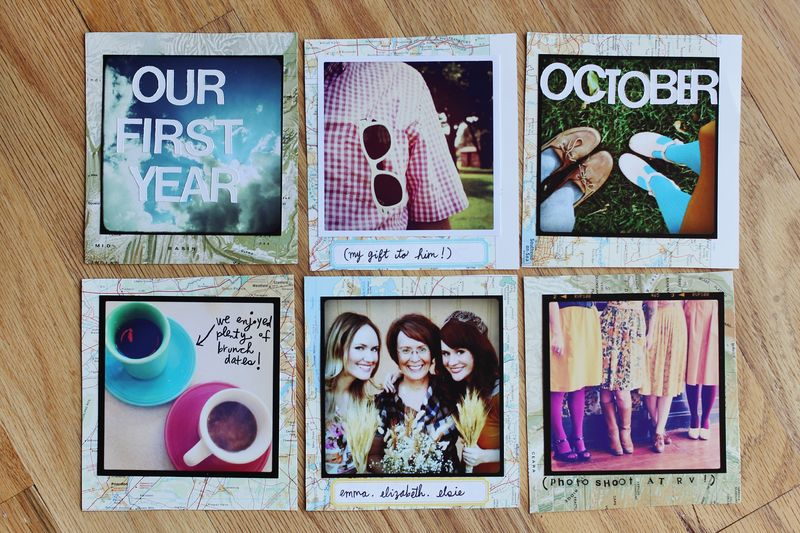 one year photo book ideas - Our First Year Instagram Scrapbook – A Beautiful Mess