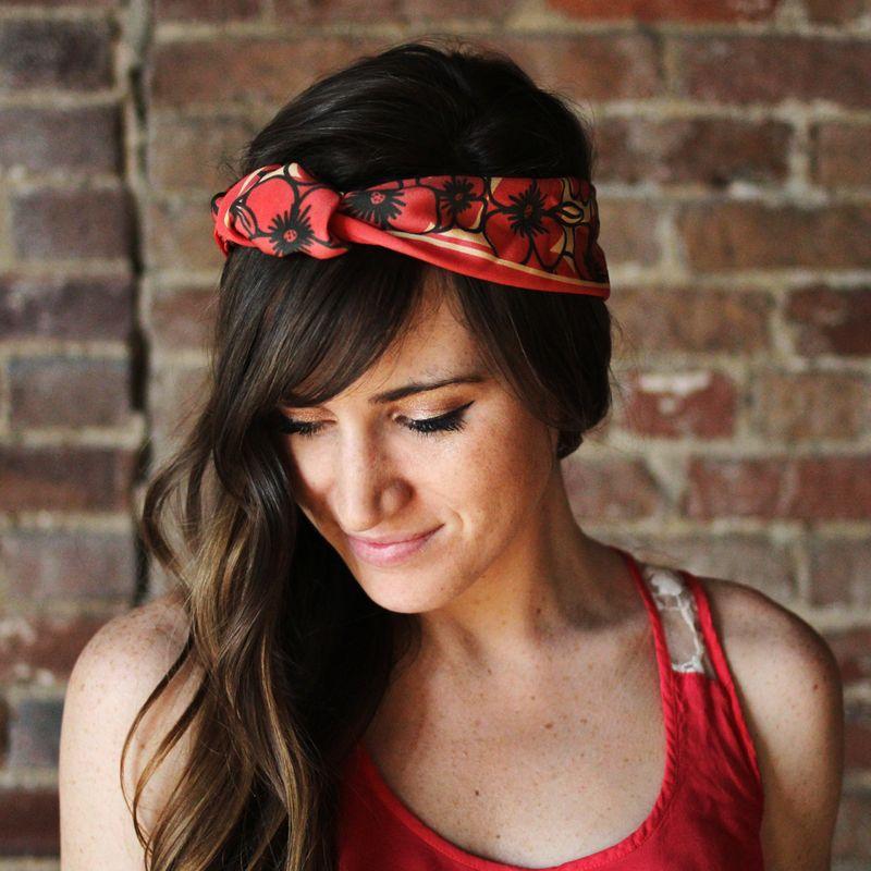 10 ways to wear a silk scarf a beautiful mess
