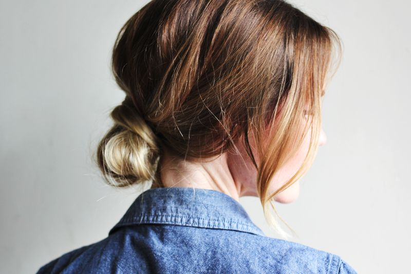 How to style a low bun a beautiful mess fancy bun 2 urmus Gallery