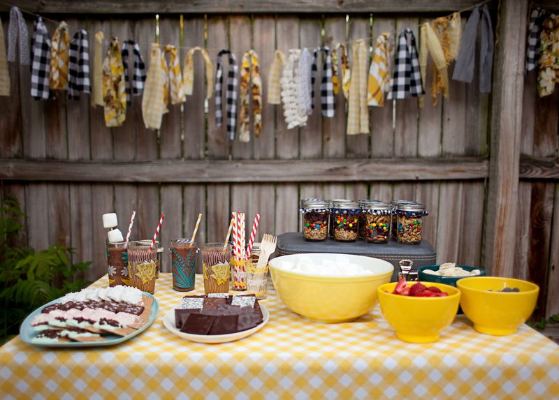 Last Week We Shared A Few Recipes From Our Little Backyard Bonfire Party Had So Much Fun Making Fancy Smores And Enjoying Frozen Hot Chocolates