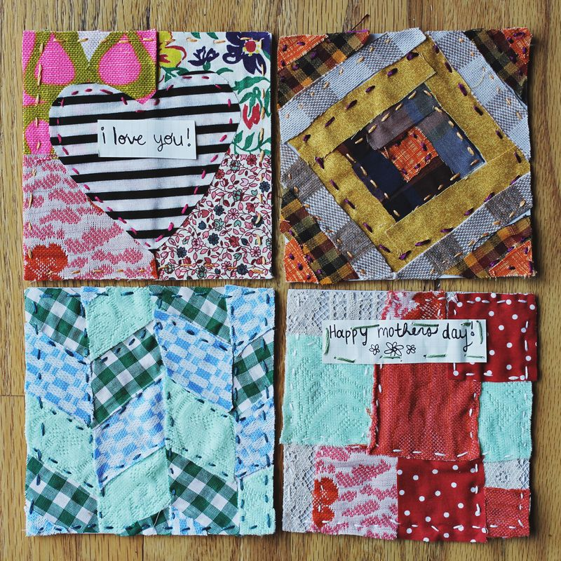Quilted Mother's Day Greeting Cards – A Beautiful Mess : quilted cards - Adamdwight.com