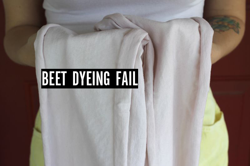 Beet dyeing fail