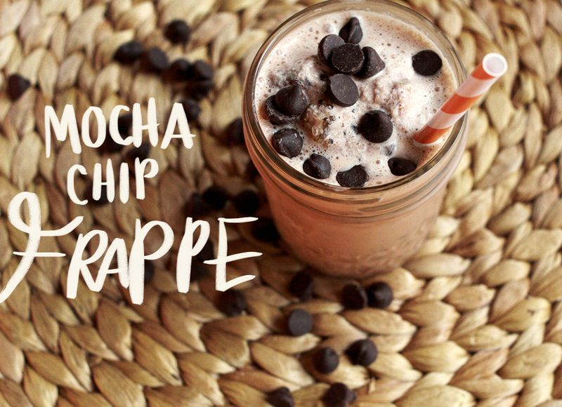 Homemade chocolate frappe