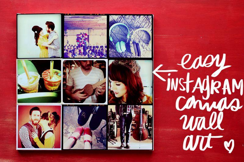 DIY INSTAGRAM CANVAS WALL ART 2 & Instagram Canvas Wall Art - A Beautiful Mess