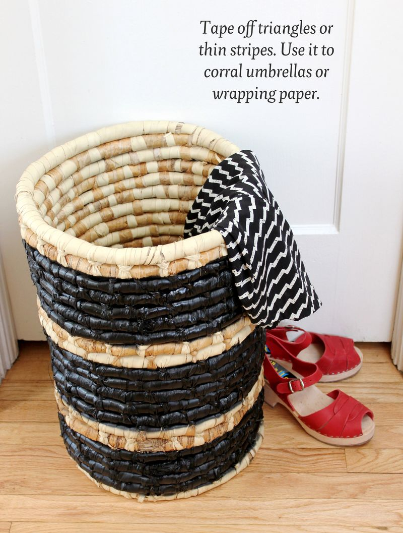 Tissue Paper Roll Basket : Dress up your hamper diy a beautiful mess