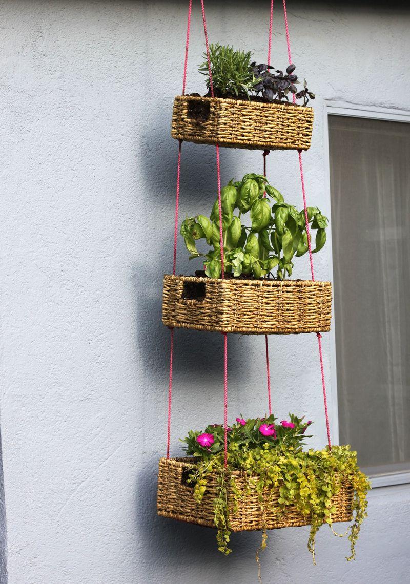 Hanging basket garden diy a beautiful mess hanging basket garden diy workwithnaturefo