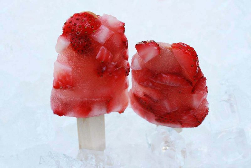 Cocktail inspired popsicles