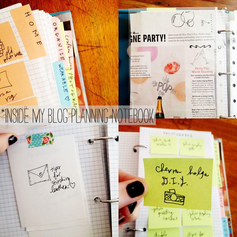Inside my blog planning notebook