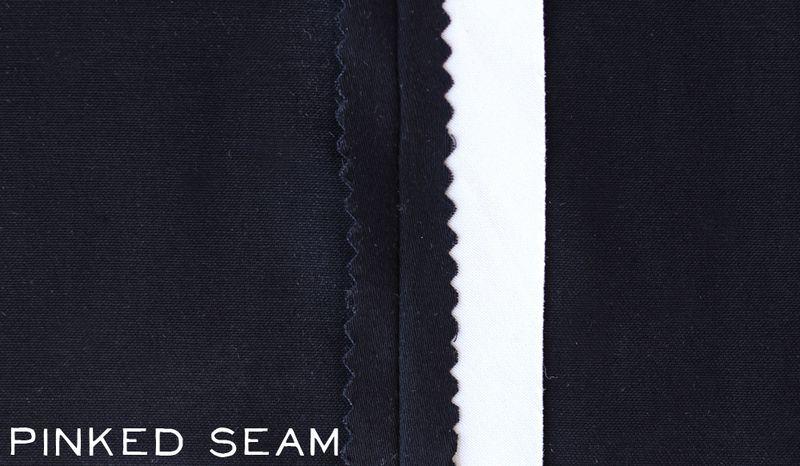 Basic seam with pinking sheer edge