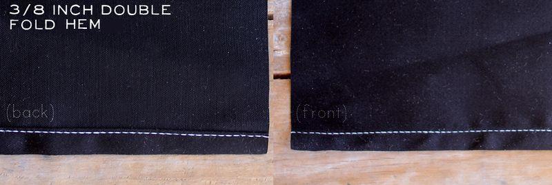 Three-Eigth Inch Double Fold Hem