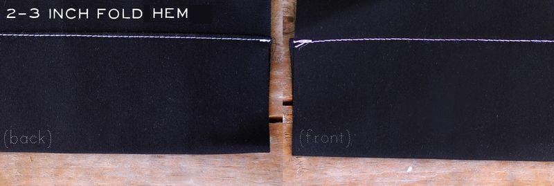 2-3 Inch Fold Hem
