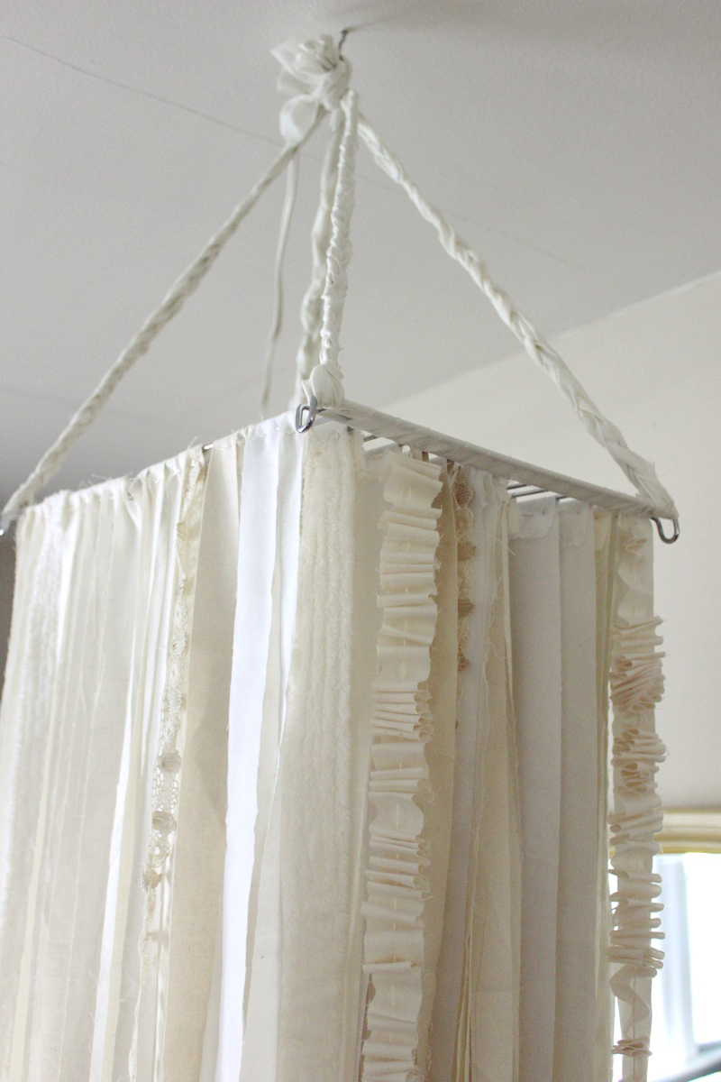 D I Y Fabric Chandelier