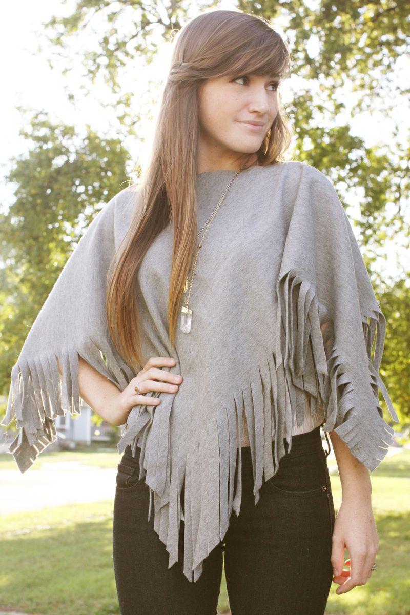 D I Y Wool Poncho A Beautiful Mess