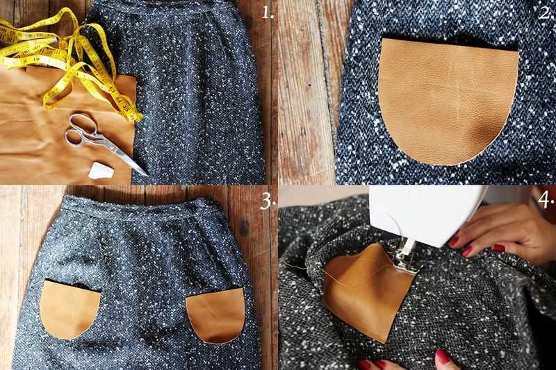 How to add leather pockets 2