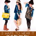 The Blue Velvet Dress / 3 Ways To Wear It - August 31, 2011