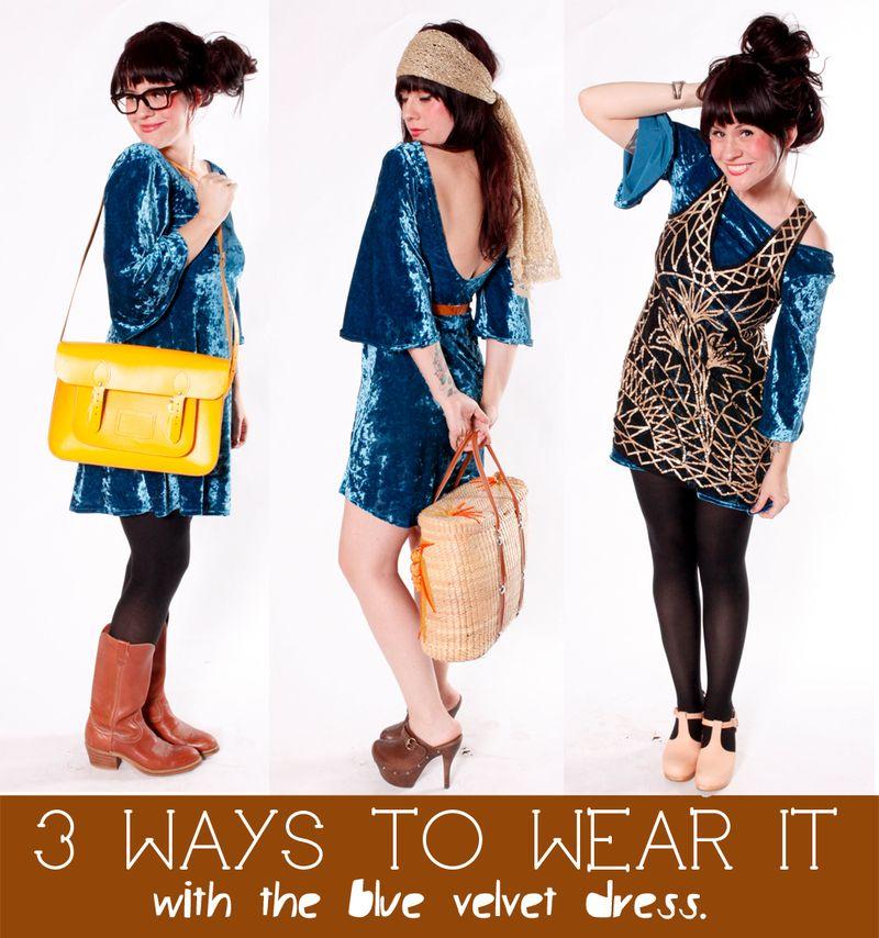 The Blue Velvet Dress 3 Ways To Wear It