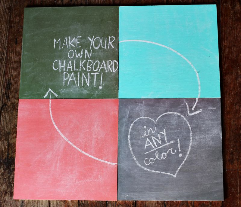Chalkboard paint DIY