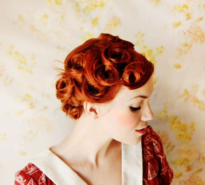 Phenomenal Pin Curls Curls And Pin Up On Pinterest Hairstyles For Women Draintrainus