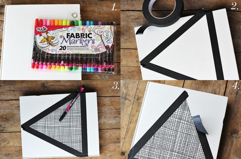 Fabric pen journal steps