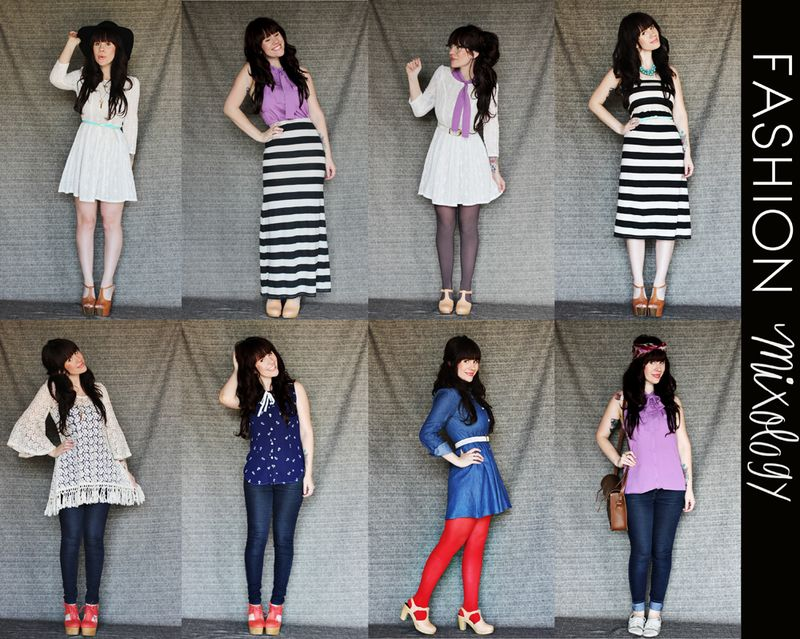 Fashion Mixology 8 Outfits From 8 Pieces A Beautiful Mess
