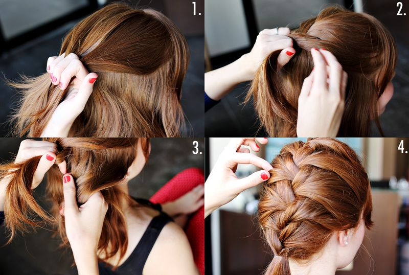 French braid steps 2