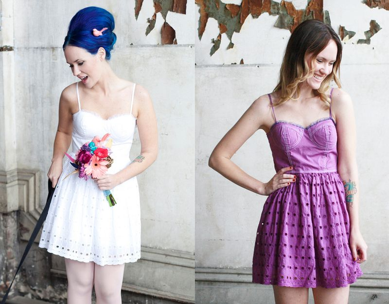 Purple dress before and after