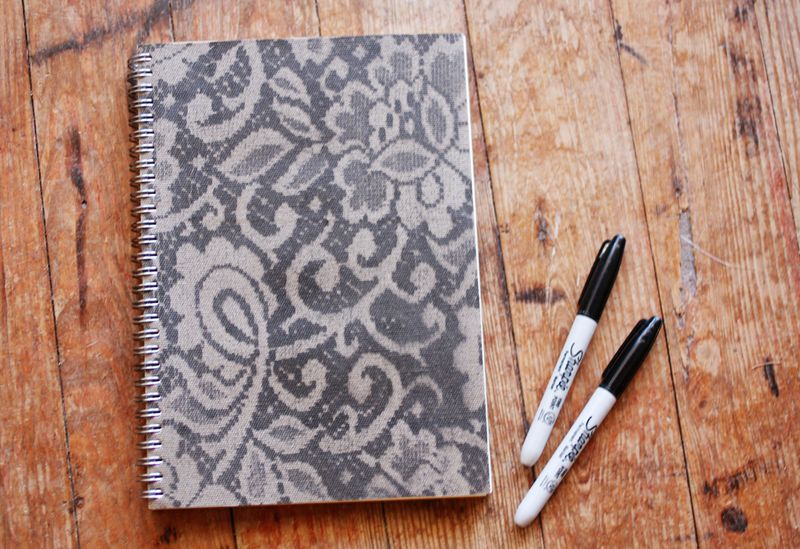 http://abeautifulmess.typepad.com/my_weblog/2012/04/how-to-make-a-lace-patterned-notebook.html