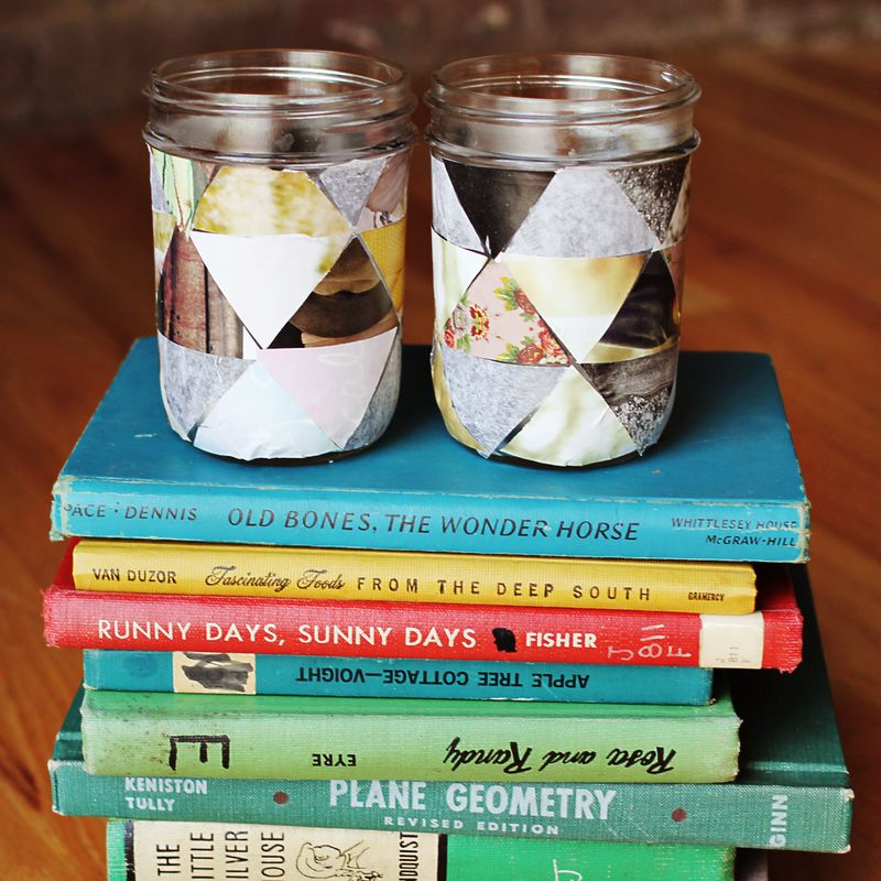 DIY GEOMETRIC VOTIVE PROJECT